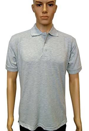 6d048d8e Uneek UC109 Polyester/Cotton Unisex Essential Pique Polo Shirt, Heather  Grey, X-Small: Amazon.co.uk: Clothing