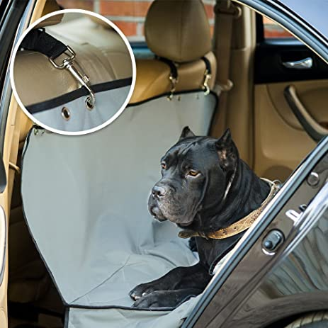 dog back seat protector for cars gray pet seat cover hammock style for truck amazon     dog back seat protector for cars gray pet seat cover      rh   amazon