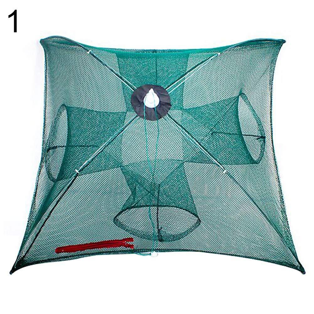 LBgrandspec Fishing Trap Net,Portable Folding Automatic Fishing Net Fish Minnow Shrimp Crab Mesh Trap Tool-1 by LBgrandspec (Image #1)
