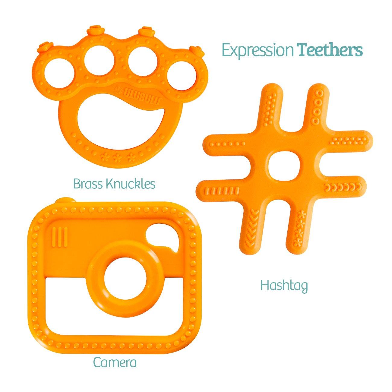 Ulubulu Hashtag Teether and Camera Teether Combo Pack