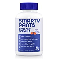 SmartyPants Daily Gummy Multivitamin Teen Guy, Lemon Lime, Mixed Berry, & Sour Apple, 120 Count
