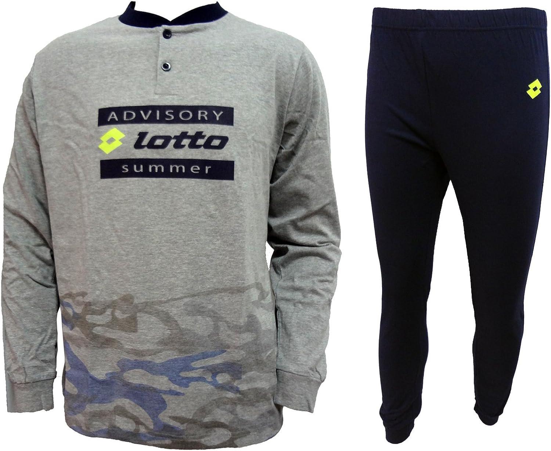 LP7002 Lotto pigiama ragazzo lungo in cotone jersey junior art
