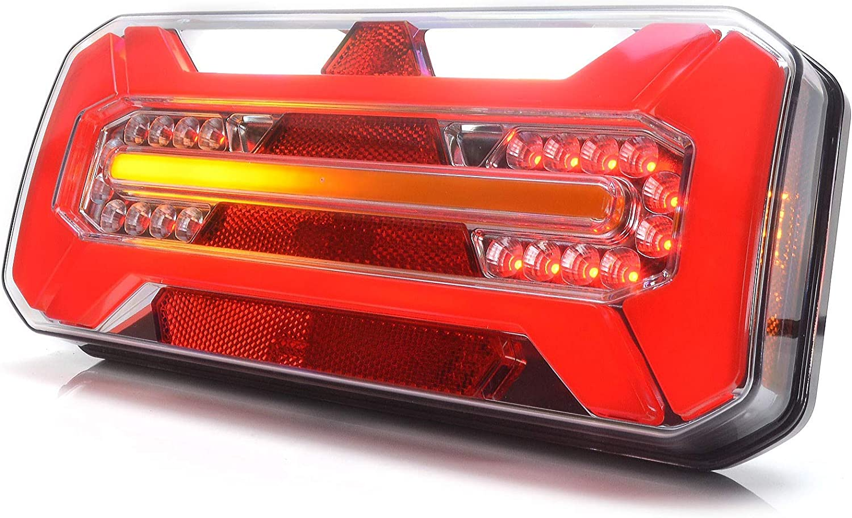 Led Rückleuchte Lkw Pkw Anhänger 7 Funktionen Recht 12v 24v 1281dd P Auto