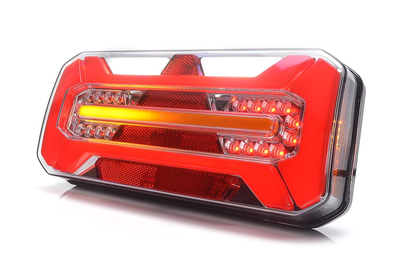 LED R/ückleuchte LKW PKW Anh/änger 7 Funktionen RECHT 12V-24V 1281DD P