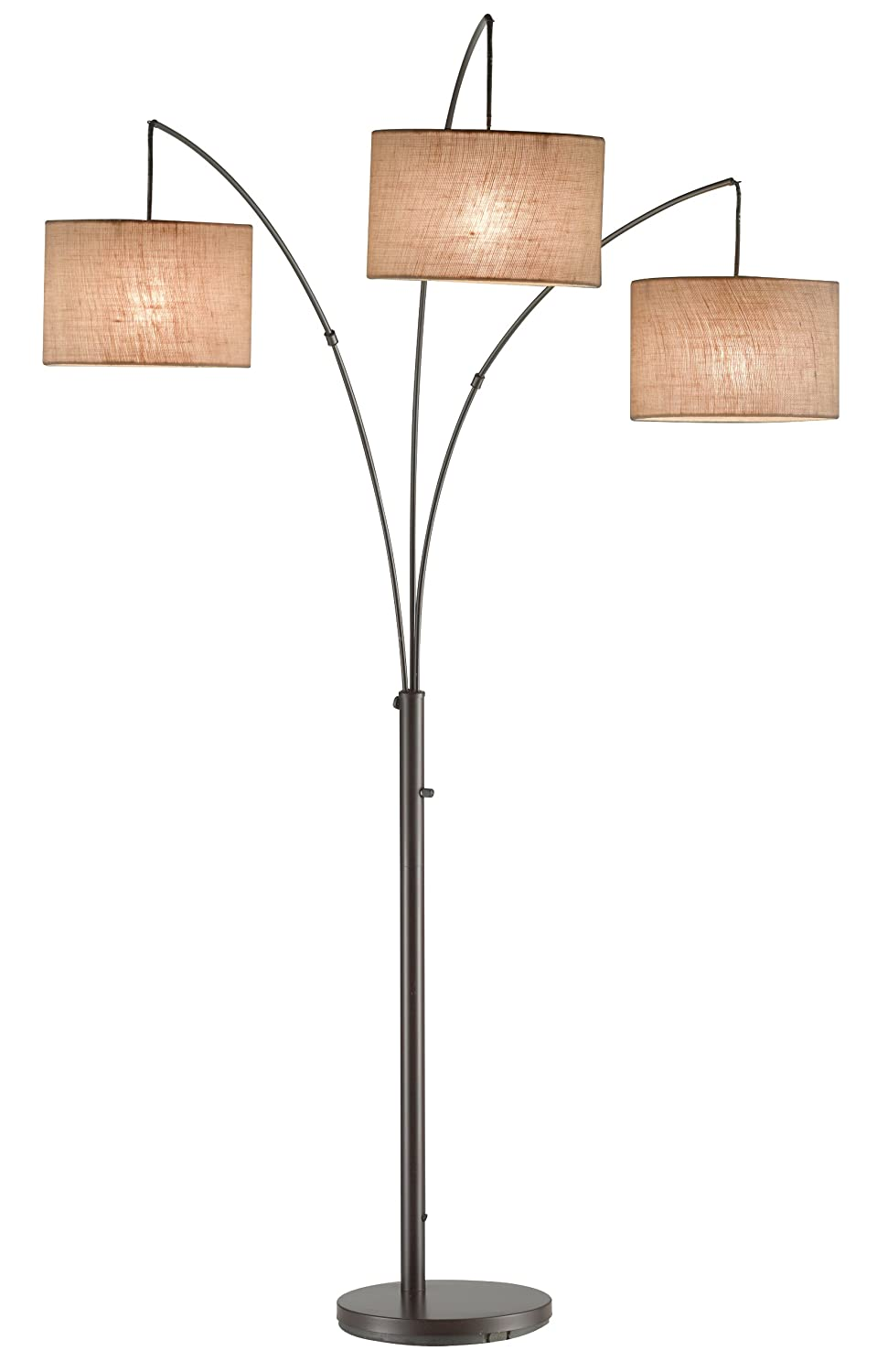 Adesso Trinity Arc Lamp 4238 26 Antique Bronze Floor Lamp