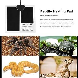 Lamedi Temperature Control Products - Heat 4Ohm Pad Tortoise Heat Chocol Heat 3000W Plug 5W Watt - Brand 5W 220 240V Ultra Thin Reptile Heating Pad 14X15Cm Mat Eu Plug Temperature Regulating M