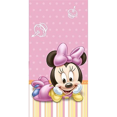 Amazon.com: Minnie Mouse 1er Cumpleaños Mantel de plástico ...