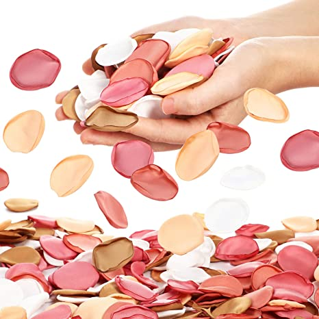Brown Rose Petals flower girl petals Cocoa 15 Shades rose petals for aisle runners Fake Rose Petals Brown Silk Rose Petals Chocolate