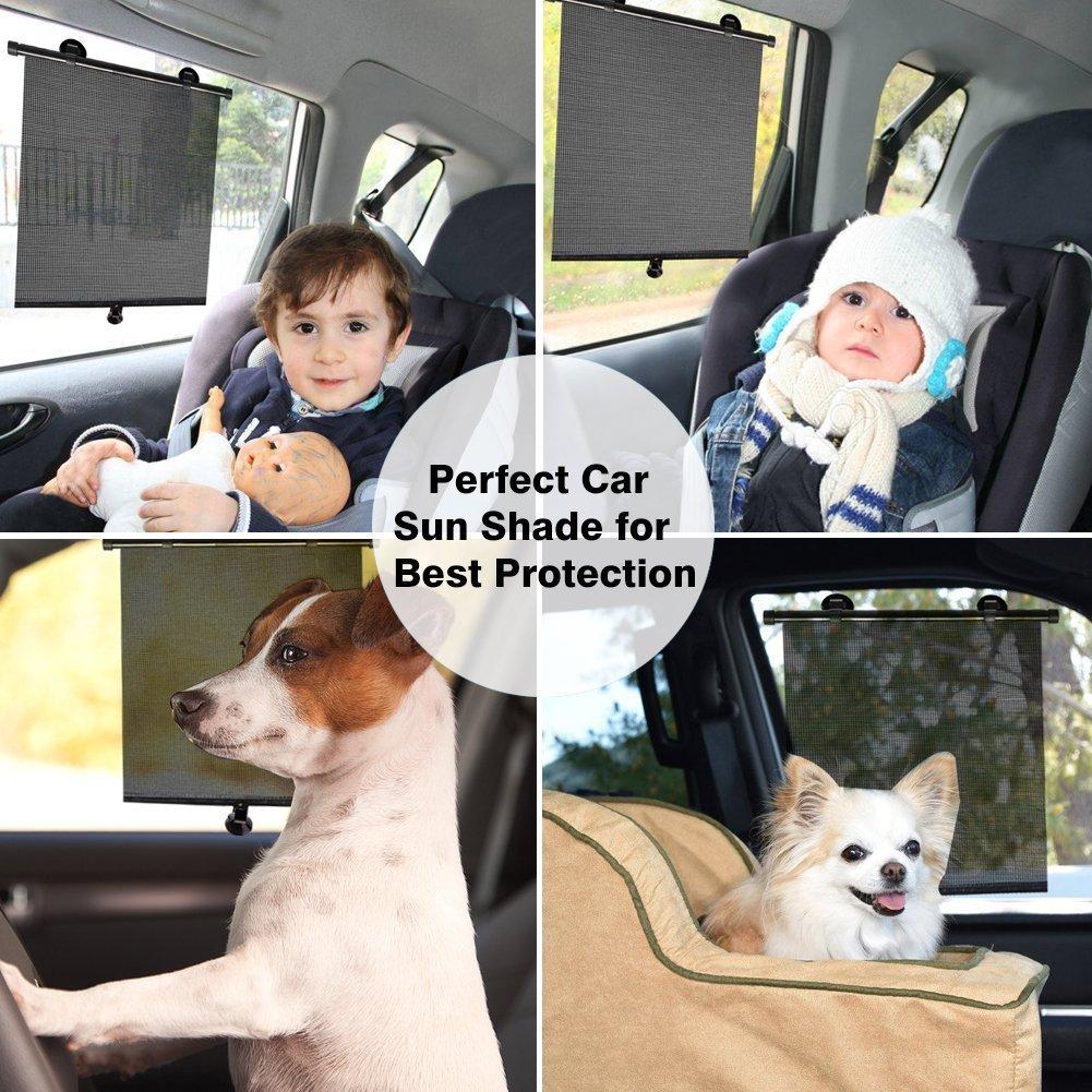 2 pezzi nero Sinbide Protezione solare Car Kids Baby con protezione UV Autoadesiva facile da montare e rimuovere