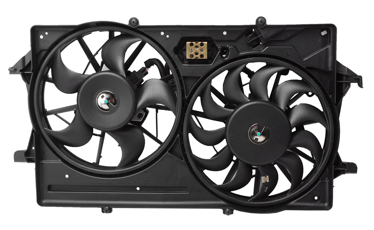 TOPAZ 1S4Z-8C607-A Radiator Cooling Fan Assembly with Single Connector for Ford Focus 01-02 2.0L