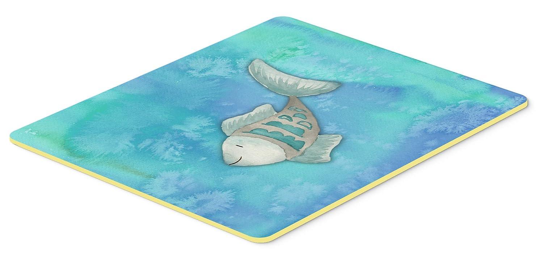 Carolines Treasures BB7386JCMT Blue Fish Watercolor Kitchen Mat 24H x 36W Multicolor