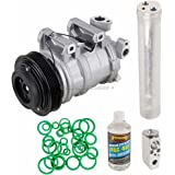 New AC Compressor & Clutch With Complete A/C Repair Kit For Nissan Altima 2.5L - BuyAutoParts 60-81130RK New