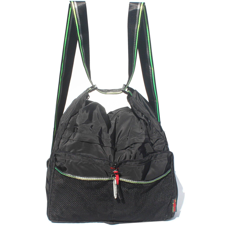 ed2660d47e Amazon.com   Alpaca Go Waterproof Nylon Shoulder Bags Fashion Nylon  Backpacks Multi Function Light Handbag Women s Totes Crossbody Bag (Black)    Sports   ...