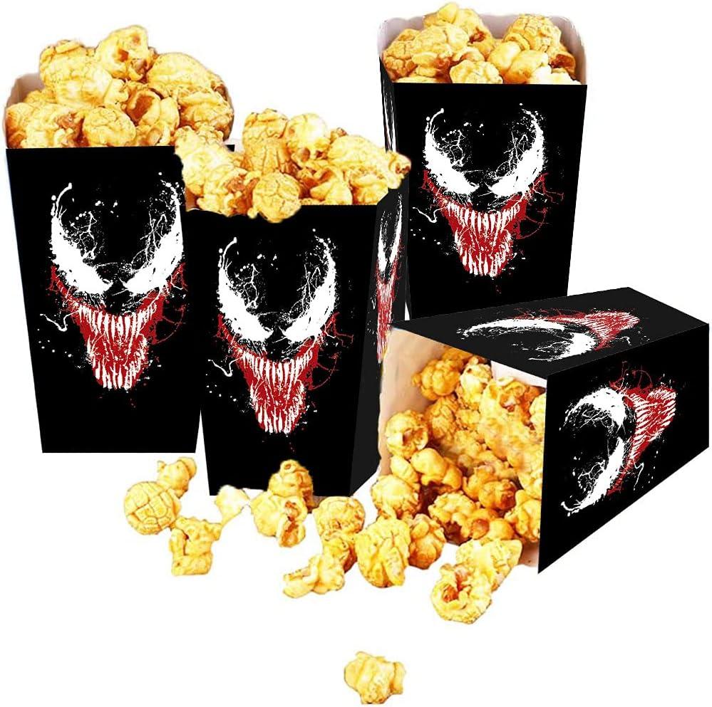 QICI 24 PCS Venom Popcorn Boxes, Venom Theme Party Supplies Favor For Movie Night Decorations, Home Theater Decor Party Theme