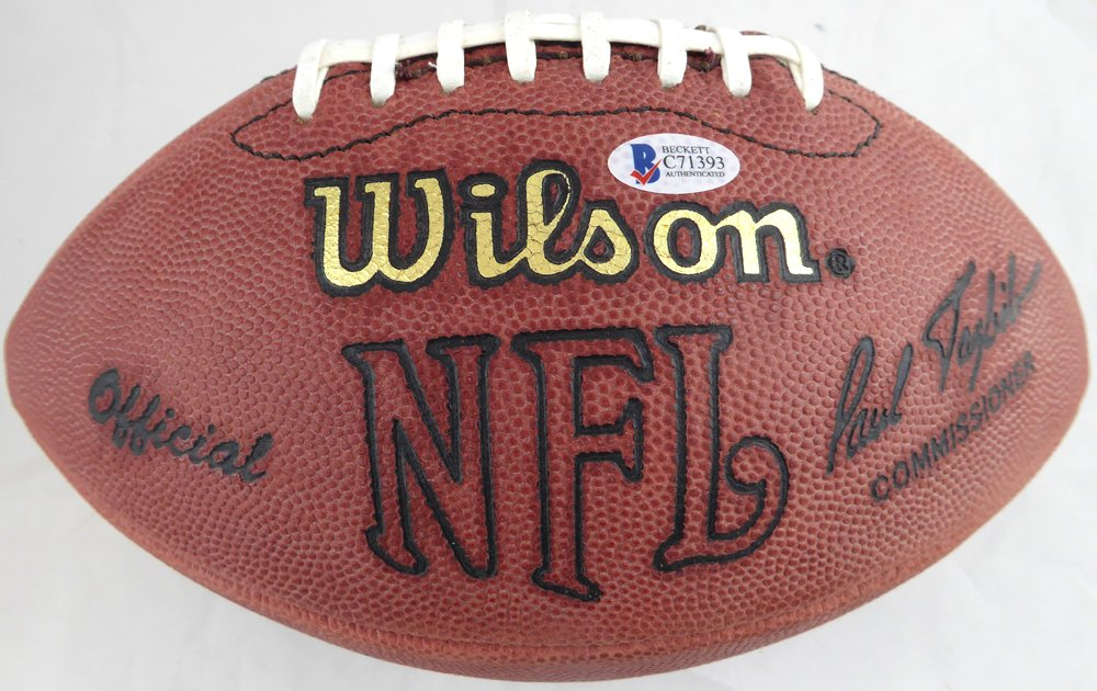 e891ead7b Jerry Rice Autographed Signed Wilson NFL Leather Football San Francisco  49ers - Beckett Authentic at Amazon s Sports Collectibles Store