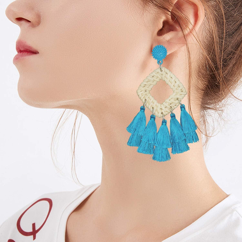 Bobbin Lace Jewelry Tassel Fan Earrings Fall Jewelry Bohemian Dangle Earrings Tassel Handmade Earrings Jewelry Gift Autumn Jewelry