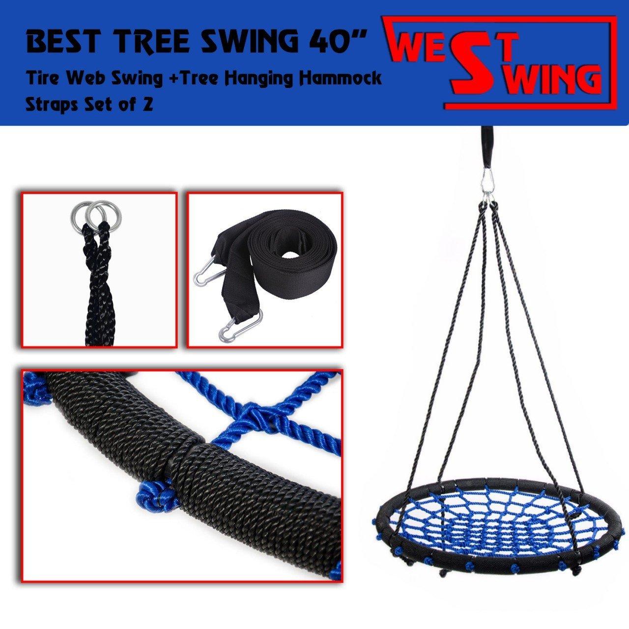 トップスイングNetツリースイングロープWeb Spiderシート吊りストラップキットアウトドア、XXXL直径40