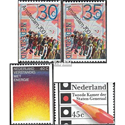 Pays-Bas 1043C,1045C,1092C,1093C (complète.Edition.) 1975 Anniversaires, énergie, élections (Timbres pour les collectionneurs)