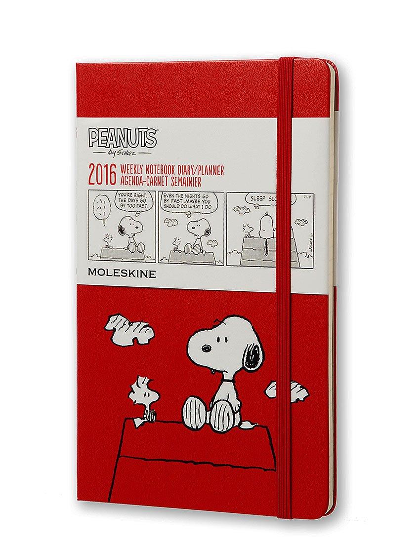 Moleskine Peanuts - Agenda semanal 2016, 12 meses, tamaño grande, color rojo