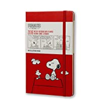Moleskine 2016 Peanuts Limited Edition Weekly Notebook, 12M, Large, Scarlet Red, Hard Cover (5 x 8.25)