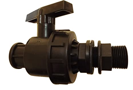 1 water butt connector with ball valve,water storage tank connector,threaded1joiner FREE POSTAGE