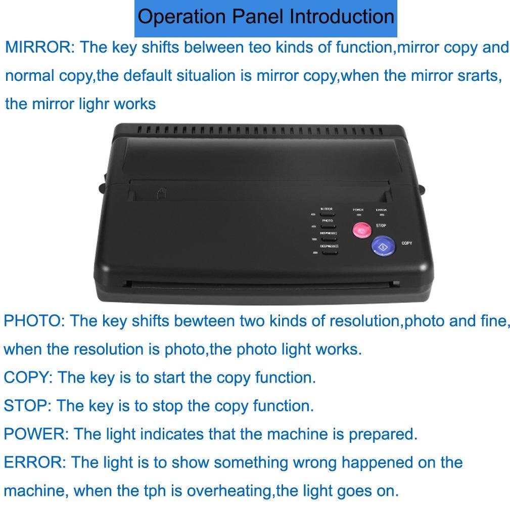 Amazon.com: Tattoo Transfer Copier Thermal Stencil Printer ...