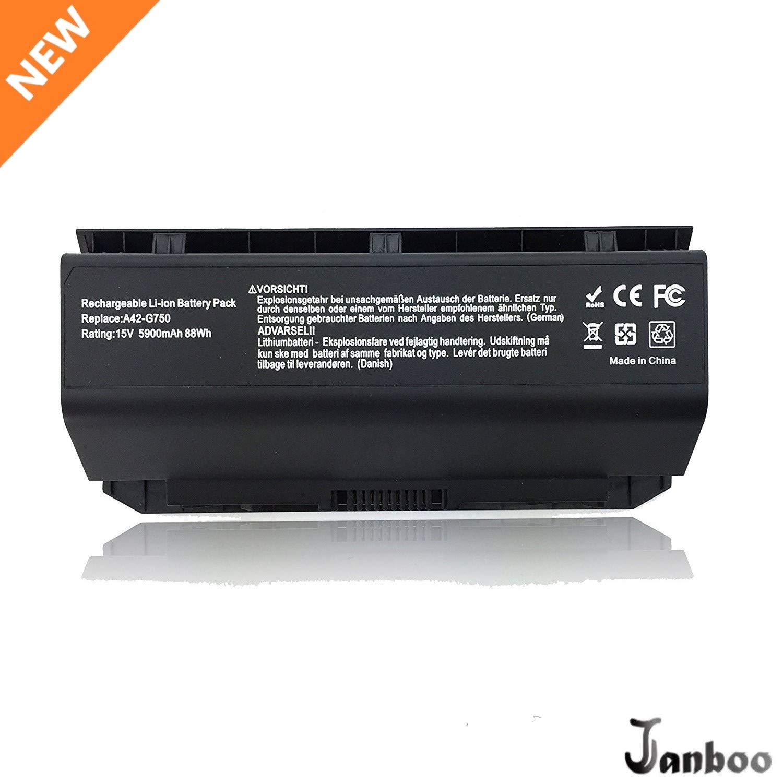 Bateria A42-G750 para ASUS G750 G750J G750JH G750JM G750JS G750JW G750JX G750JZ G750Y47JX-BL ROG Series 0B110-00200000M