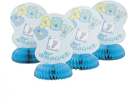 Bebé costura azul Panal Centro de mesa: Amazon.es: Juguetes y juegos