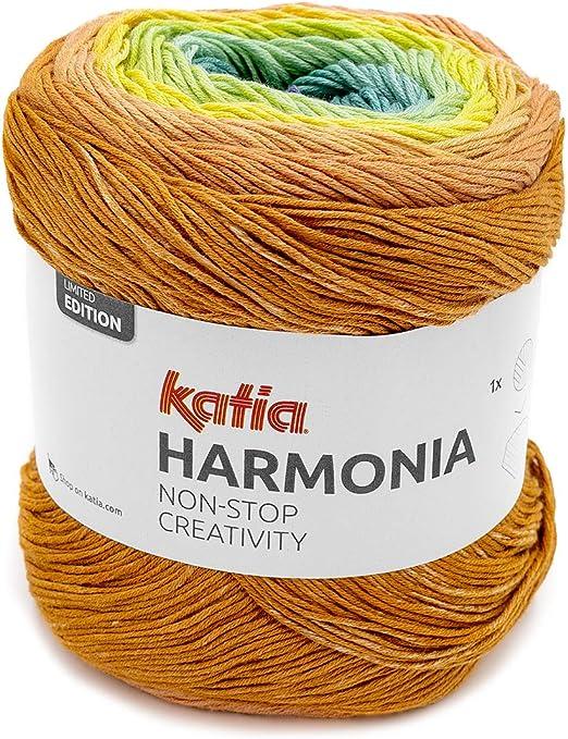 Katia Harmonia Color 201 - Hilo de algodón con degradado de color, 100% algodón para punto o ganchillo: Amazon.es: Hogar