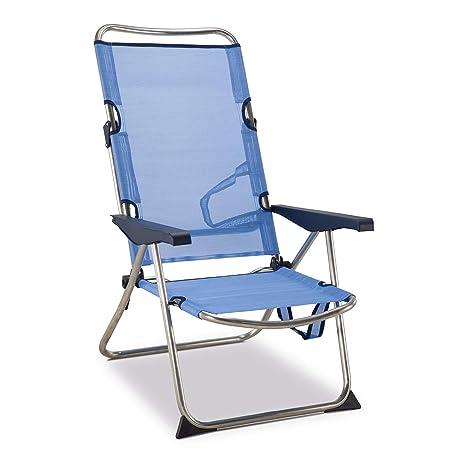Solenny Silla Plegable, azul, 90x64x15 cm, 50001072720118