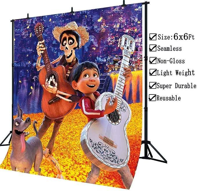 LUCKSTY - Fondo de fotografía con diseño de película de Coco, para ...