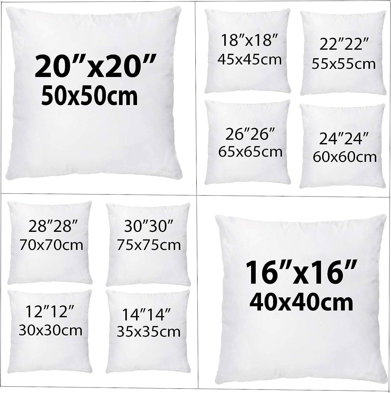 """4 x 18/"""" x 18/"""" fibre creuse cushion pads inserts de rembourrage de longue durée de remplissage"""