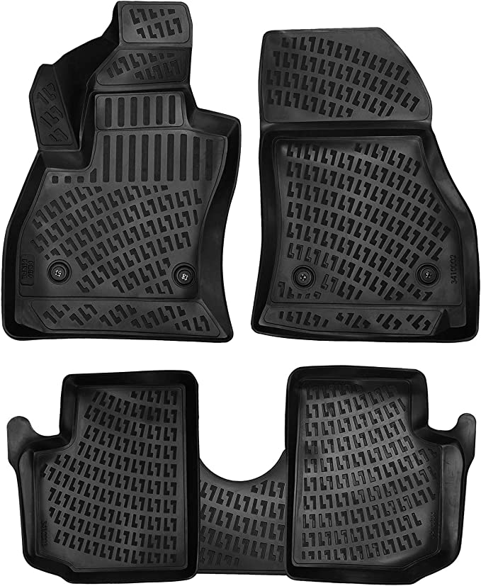 Waterproof-All Weather Protection-Black AWEMAT Car Floor mats for Toyota CHR 2018-2019 Model Digital Measured Exquisite Pattern-Large Coverage