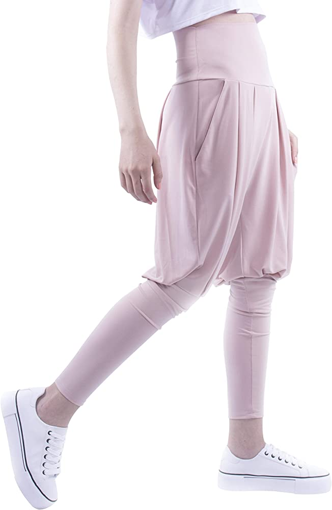 Yoga Harem Pants for Women – Loose Waist an Tight Leg Fitting Jogger Pants for Casual an Sport Outfit
