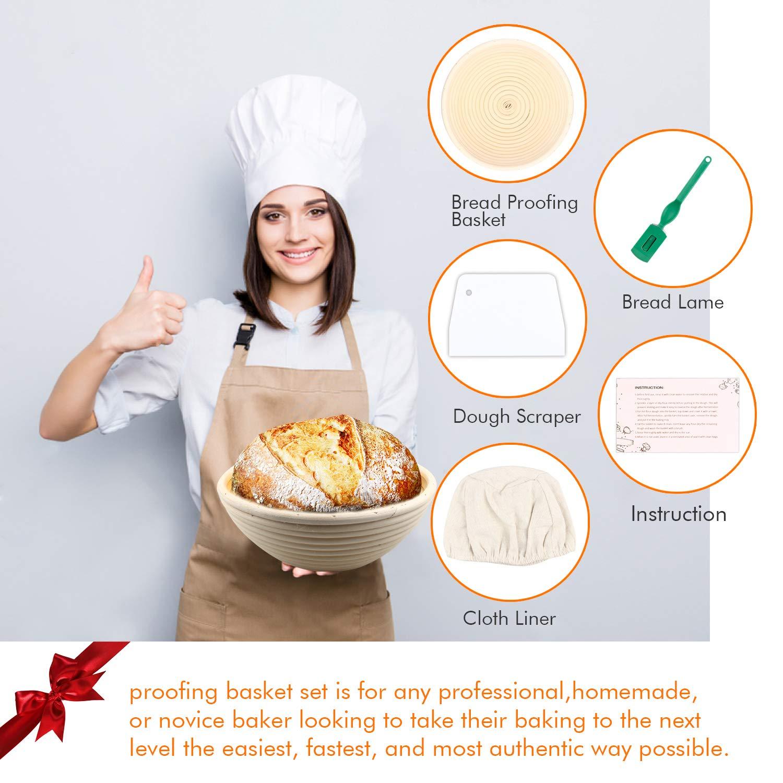 Paniers /à pain en rotin naturel 25 cm pour p/âtisserie maison