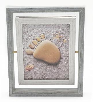 Smiling Art Bilderrahmen Für 2 Fotos Aus Holz Mit Glas Doppelrahmen