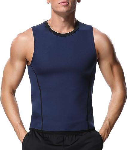 Men Neoprene Slimming Vest Body Shaper Sauna Suit Sweat Shirt Corset Fat