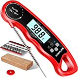 "GDEALER DT09 Waterproof Digital Instant Read Meat Thermometer with 4.6"" Folding Probe Calibration Function for Cooking Food C"