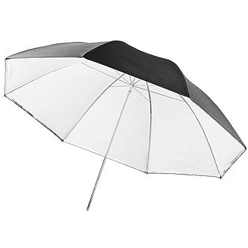 Walimex Pro - Paraguas 2 en 1 de 109 cm (transparente y réflex),