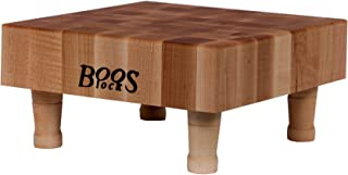 product image for John Boos Block MCS1 Maple Wood End Grain Chopping Block with Feet, 12 Inches x 12 Inches x 3 Inches