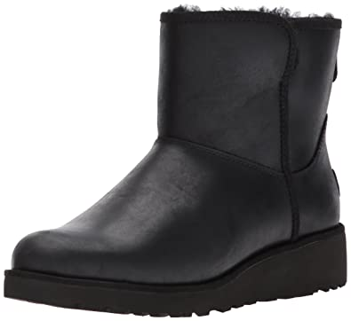 UGG Women's Kristin Leather Winter Boot,Black,5 ...