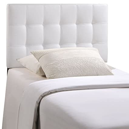 Modway Lily Upholstered Tufted Vinyl Headboard Twin Size In White