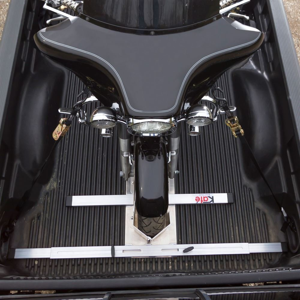 kafe KAFE-4065 Silver Bolt No Drill Motorcycle Wheel Chock