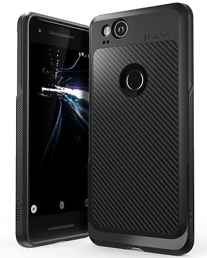 buy popular 12e53 f0db1 Vena Google Pixel 2 Case, [vSkin] Carbon Fiber Pattern Thin TPU Shock  Absorption Slim Back Cover, Gel Soft & Flexible Shell Case for Google Pixel  2 - ...