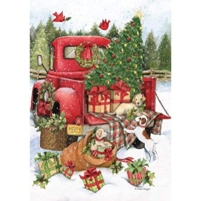 "Santa's Truck 300 Piece Jigsaw Puzzle 14.5w X 20.5"" h: Toys & Games"