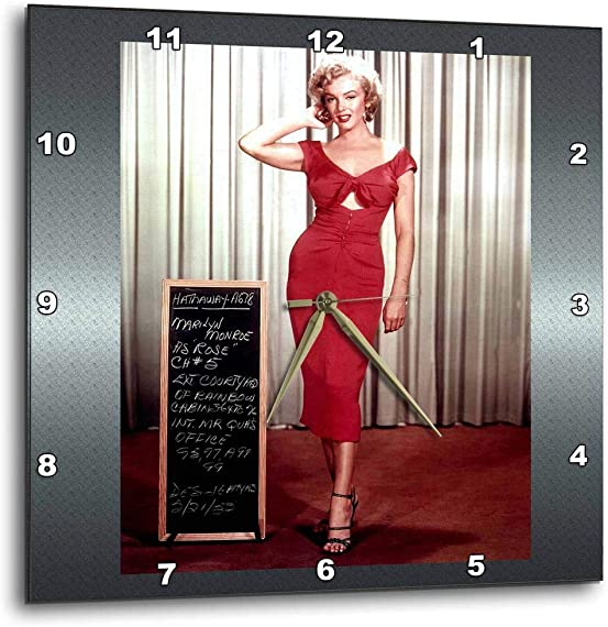 3dRose DPP_107179_1 Marilyn Monroe in Niagara Wall Clock, 10 by 10