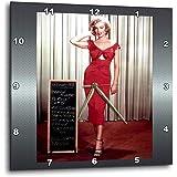 13 by 13-Inch 3dRose DPP/_107190/_2 Marilyn Monroe at The Beach-Wall Clock