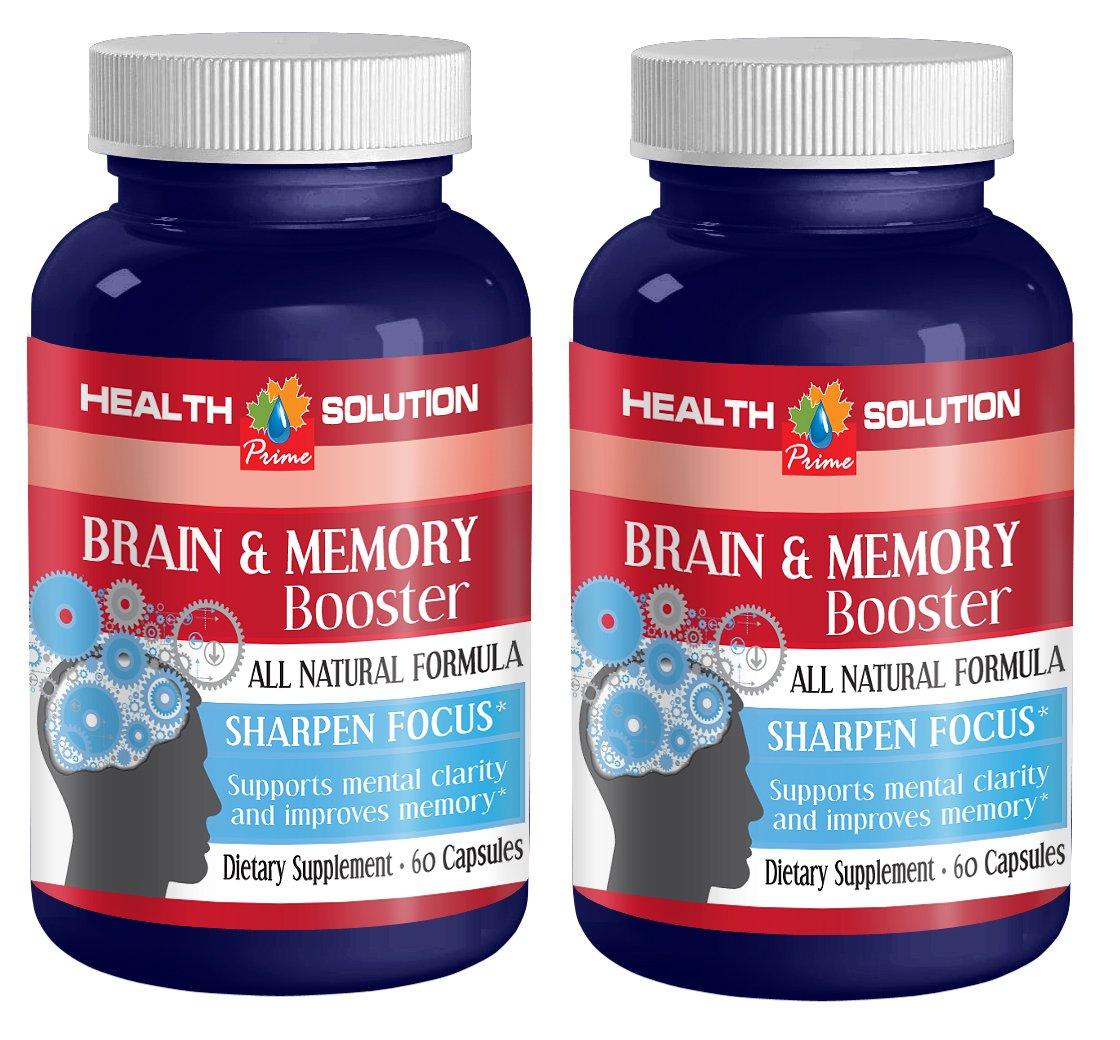 Brain supplement ginkgo biloba - BRAIN AND MEMORY BOOSTER - Ginkgo biloba - 2 Bottles 120 Capsules