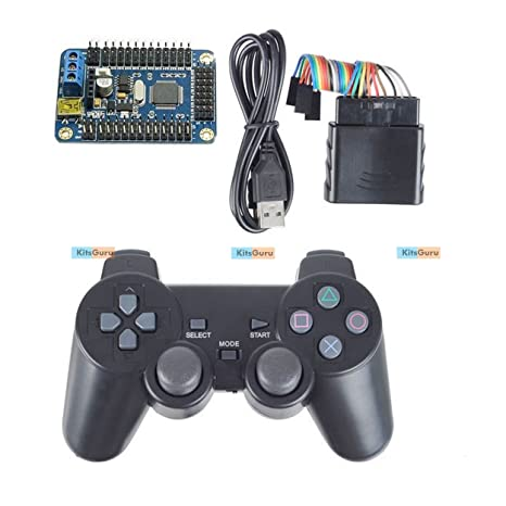 32 Channel Servo Control Board /& PS2 Handle Controller /& Receiver for RC Robot