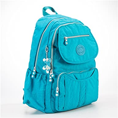 98137d9563bb Image Unavailable. Image not available for. Color  School Backpack Teenage  Girl Feminina Women Backpacks Female Nylon Big Travel Backpack Laptop Color  5 ...